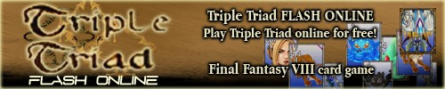 Triple Triad FLASH ONLINE - Play Triple Triad online and for free! Final Fantasy VIII (8) Flash card game